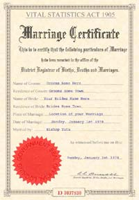 Sample fake marriage certificate yelopaper Image collections